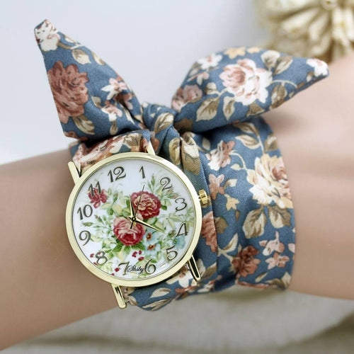Gadgets - Fleur: The Flower Cloth Wrist Watch