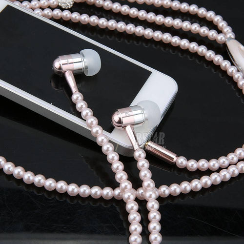 Gadgets - Pearl Earphones & Necklace 3.5mm