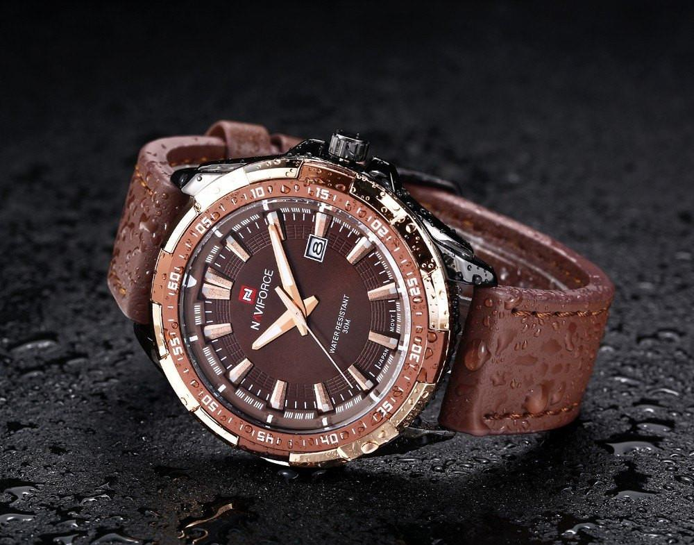 Gadgets - Zeus: Naviforce Mens Military Leather Wrist Watch
