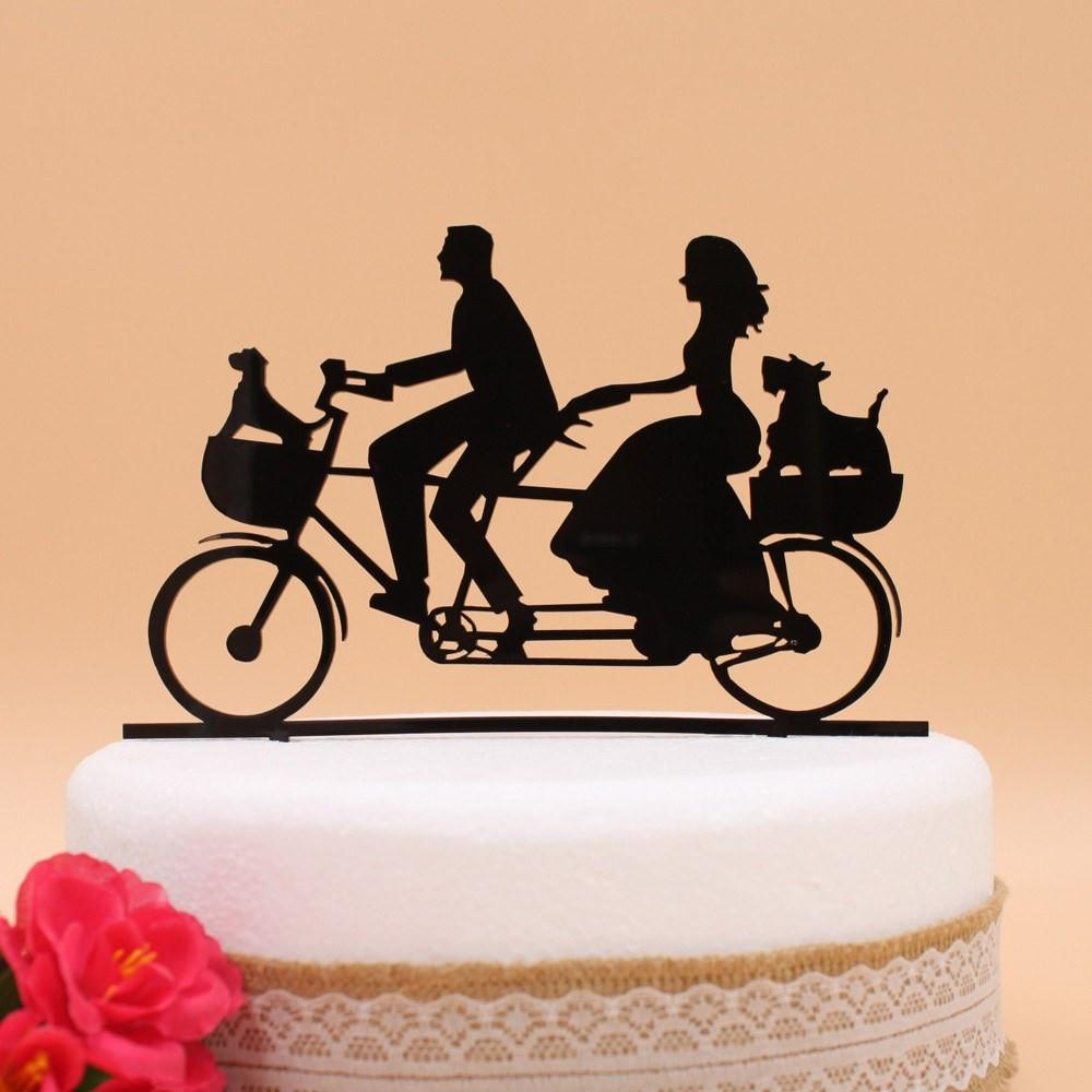 Tandem Bicycle Wedding Cake Topper – Loot Route