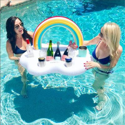 Inflatable Rainbow - Floating Drink Holder