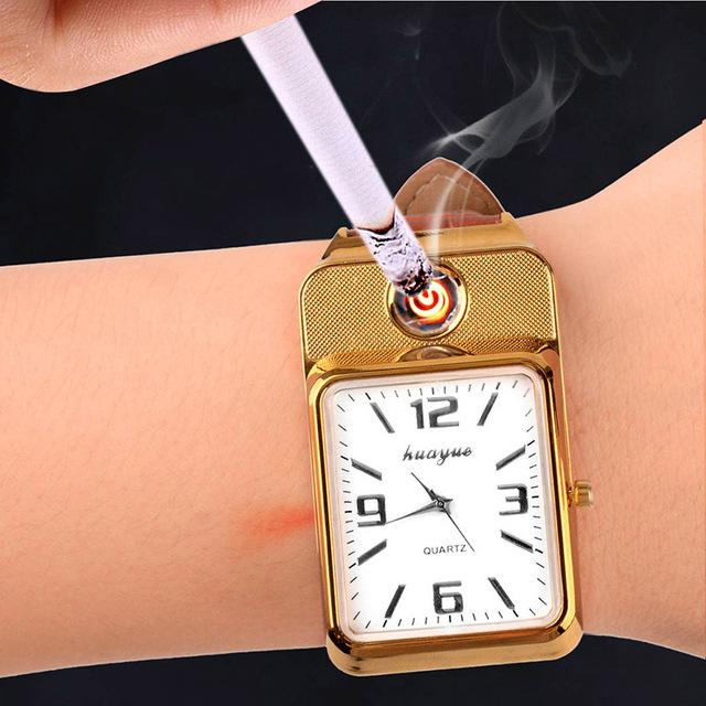 USB Charging Cigarette Lighter Wristwatch