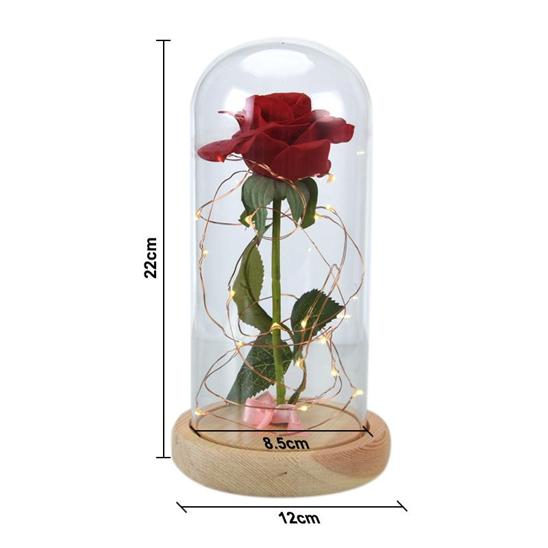 The Enchanted: Red Rose Flower Lamp