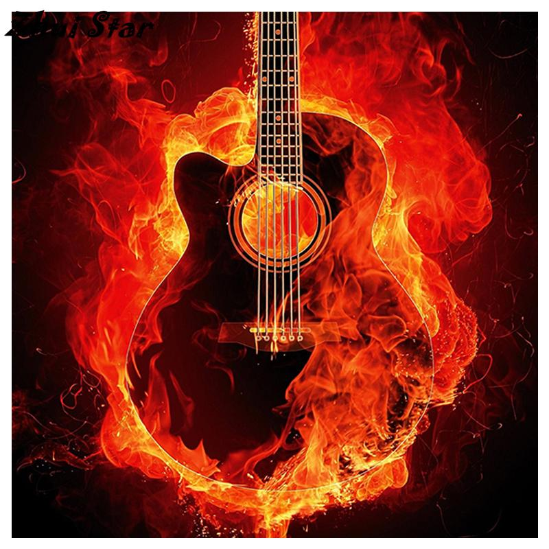 Flaming Guitar - Mosaic By Numbers