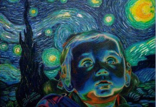 Baby and Van Gogh - Mosaic By Numbers