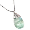 Crystal-Silver-Necklace-Green-Quartz