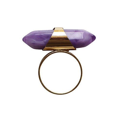 Gold-Double-Point-Ame-Quarts-Crystal-Ring-Large