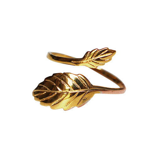 Gold-Wrap-Around-Leaf-Ring