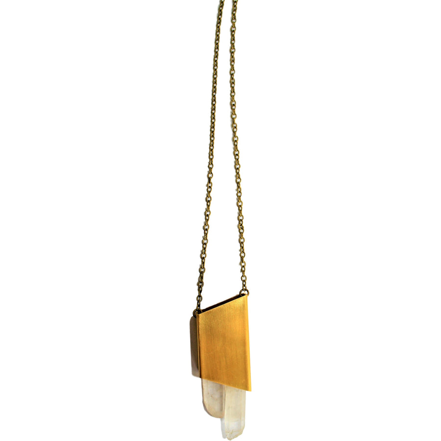 Raw Quartz Point Necklace