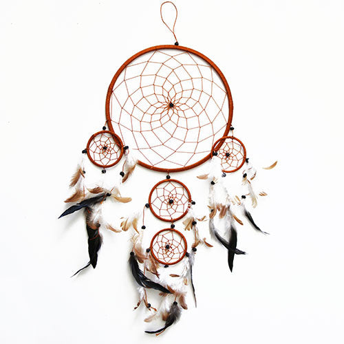 Sea Sun Folk Light Brown Dreamcatcher