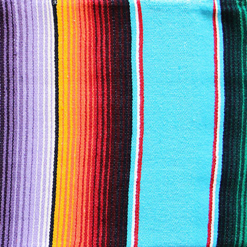 Sea Sun Folk Mexican Blanket Blue