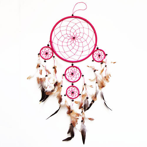 Sea Sun Folk Pink Dreamcatcher