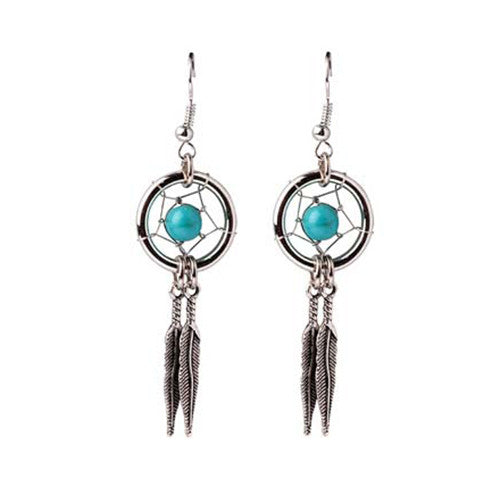 Sea-SUn-Folk-Silver-Dreamcatcher-Earing