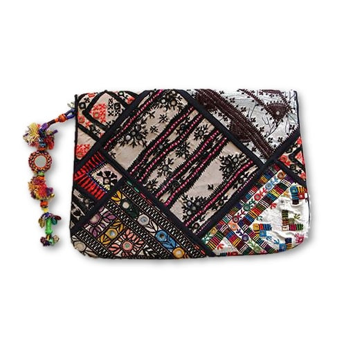 Black Festival Clutch - SEA SUN FOLK