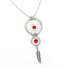 silver-dreamcatcher-necklace-red