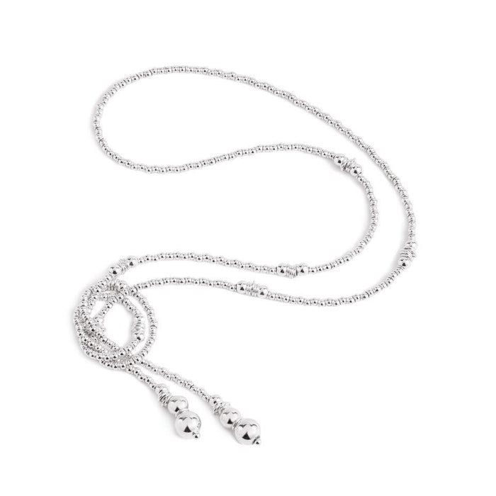 Fluidity Lariat in Silver and Swarovski