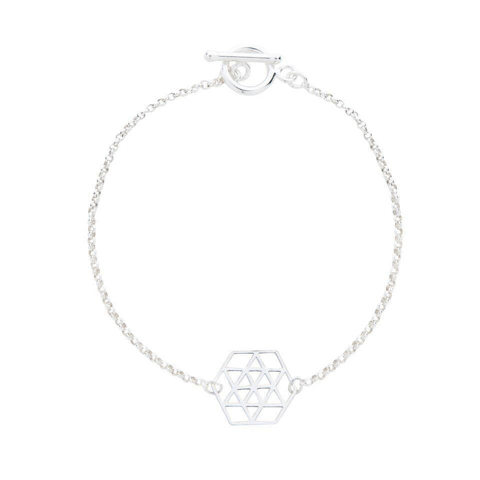 Geometric Star Bracelet in Silver