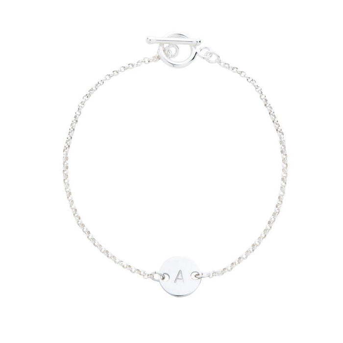 Personalised Initial Bracelet in Silver