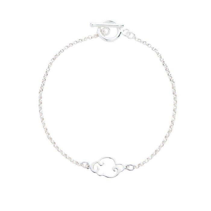Cloud Bracelet in Silver