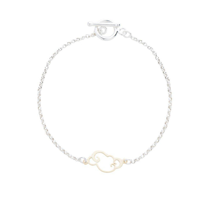 Gold Cloud Bracelet in Silver