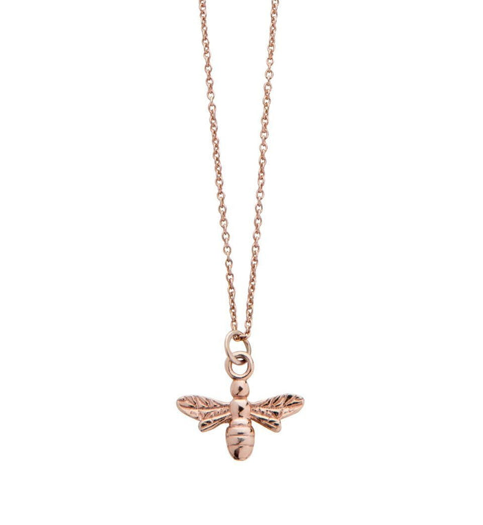 Bee Necklace in Rose Gold