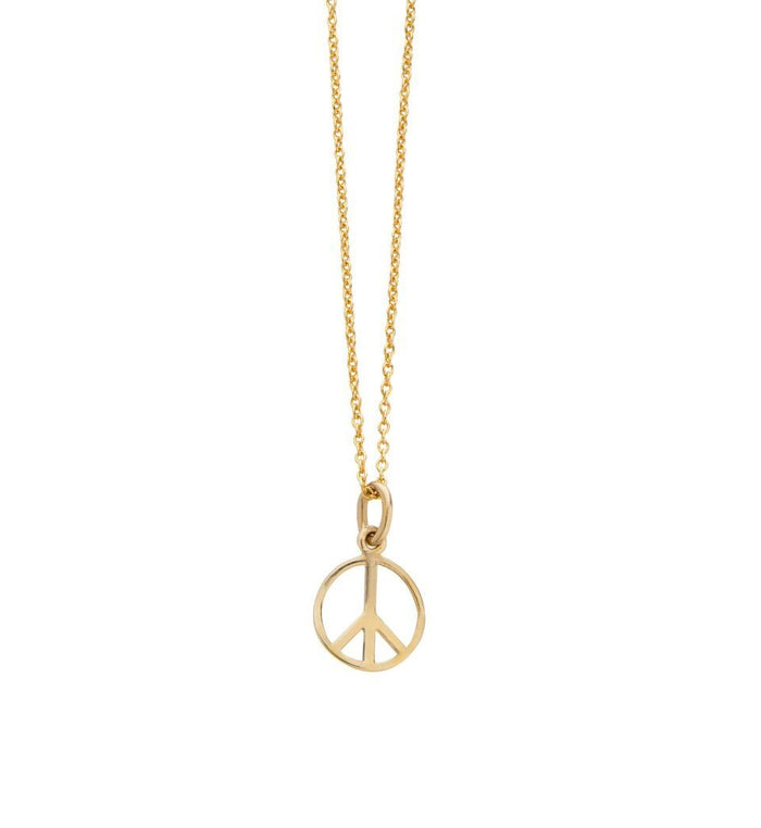 Peace Necklace in Gold