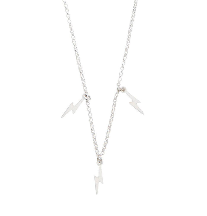 Elements Lightning Bolt Necklace in Silver