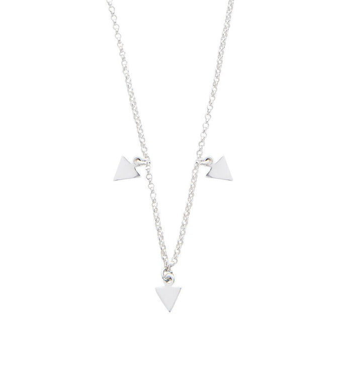 Elements Triangle Necklace in Silver