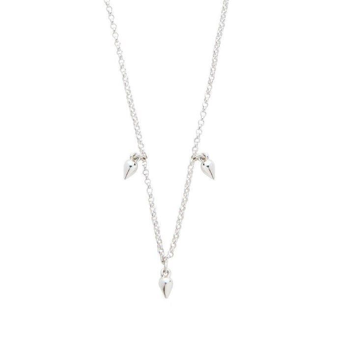 Elements Droplet Necklace in Silver