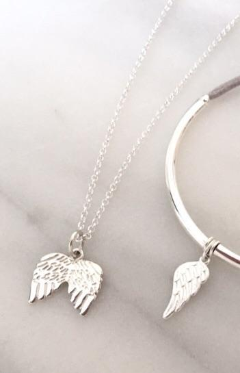 Angel Wing Necklace in Silver