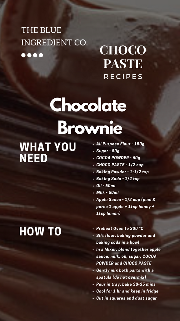 Recipe for Chocolate Brownie (Eggless)