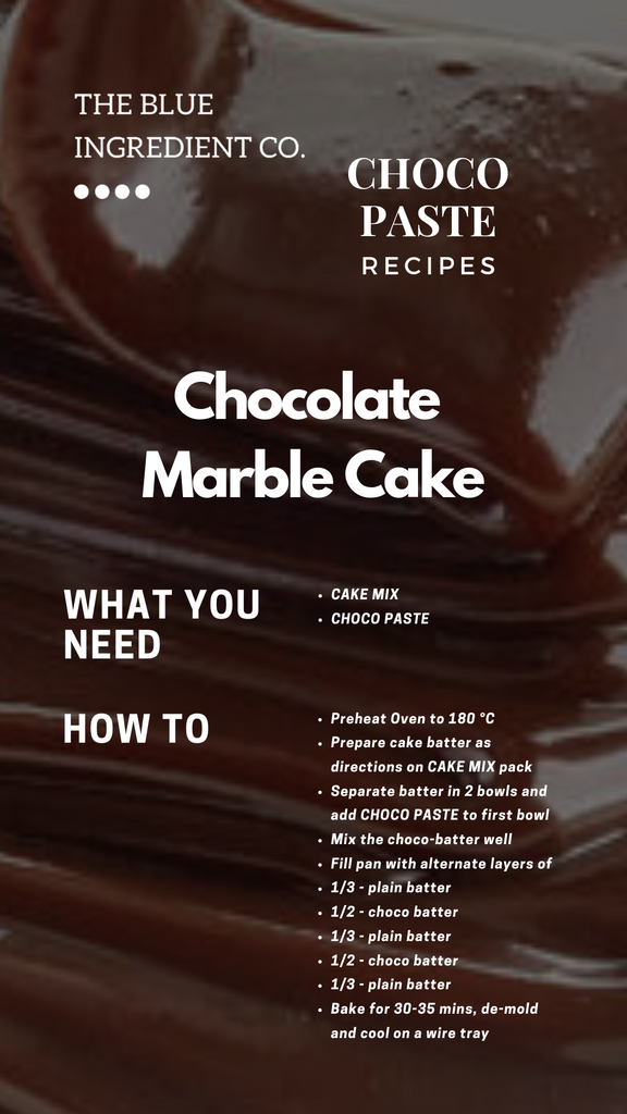 Recipe for Chocolate Marble Cake