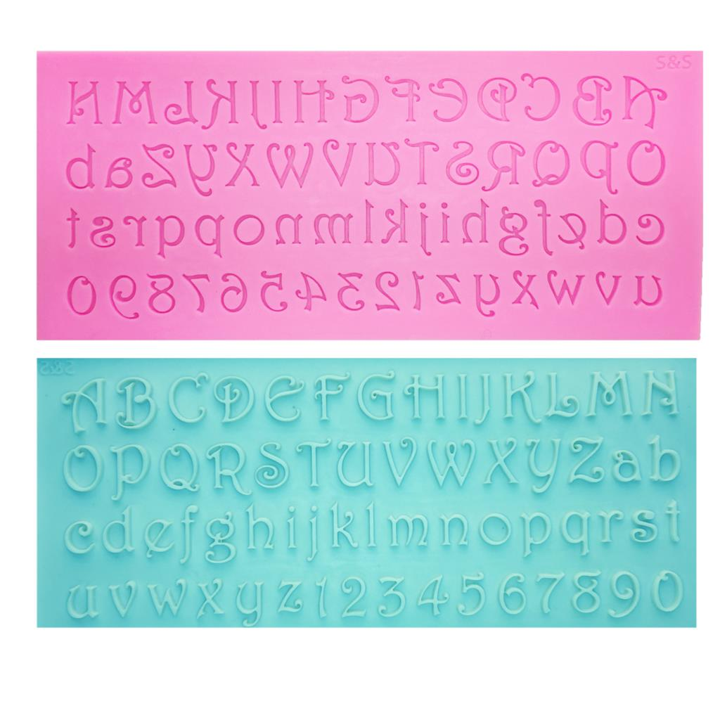 Buy OK-CHEF - Alphabet Letter/Number silicone mold fondant mold cake decorating tools chocolate gumpaste mold