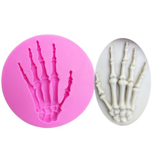 Buy OK-CHEF - Skull Hand Halloween Silicone Mold Fondant Cake Decorating Tools Chocolate Candy gumpaste molds