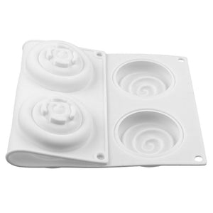 Buy OK-CHEF - 6-Cavity Cake Mould Round Shaped Silicone Molds for Sponge Cakes Mousse Chocolate Dessert Bakeware