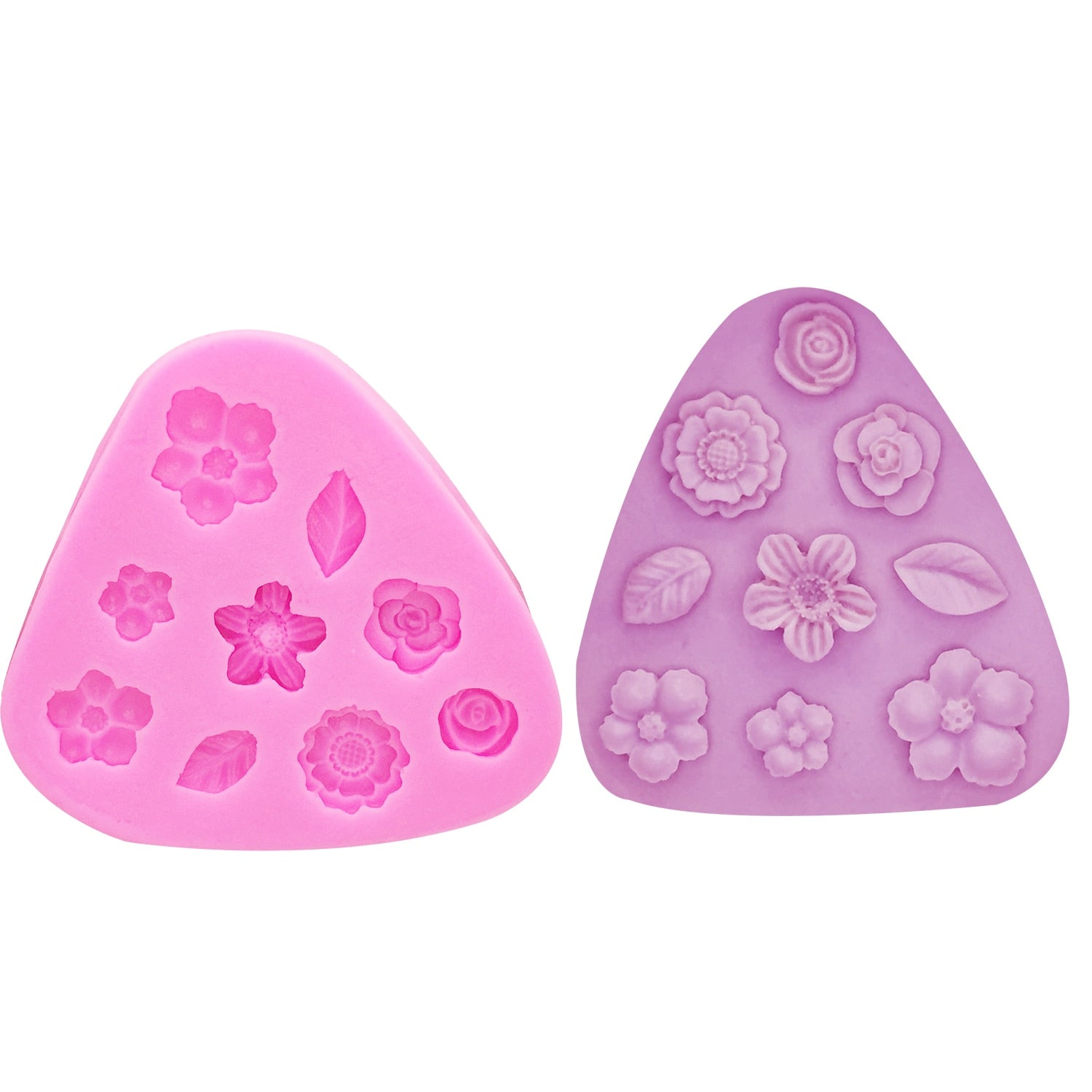 Buy OK-CHEF - 3D Leaves Silicone Mold flower Shape Mould for Candy,Chocolate,Ice,Flowers Cake decorating tools