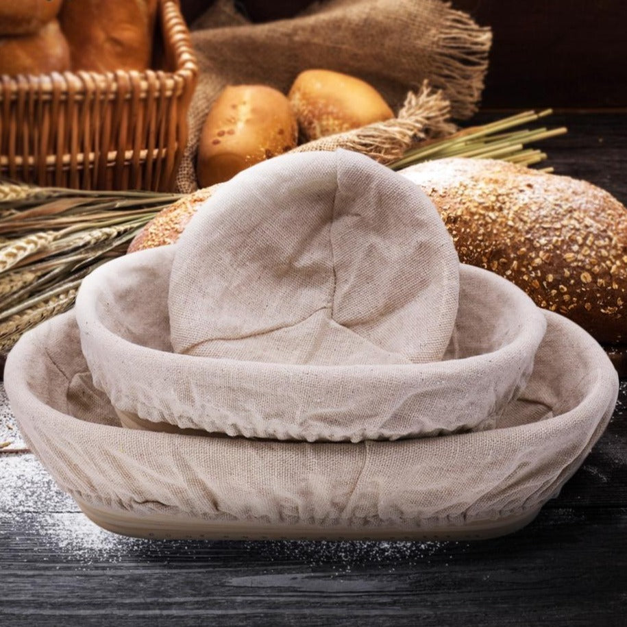 Buy OK-CHEF - Hot Sell Bread Fermentation Rattan Basket Country Bread Baguette Banneton Dough Mass Proofing Tasting Proving Baskets Supplies