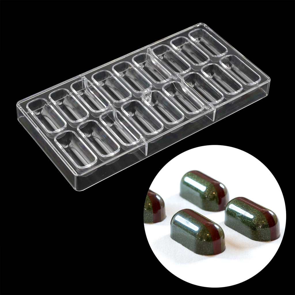 Buy OK-CHEF - 18 Cavities Oblong shape Polycarbonate Chocolate Mold Confectionery Tools cake decoration Bonbons mold