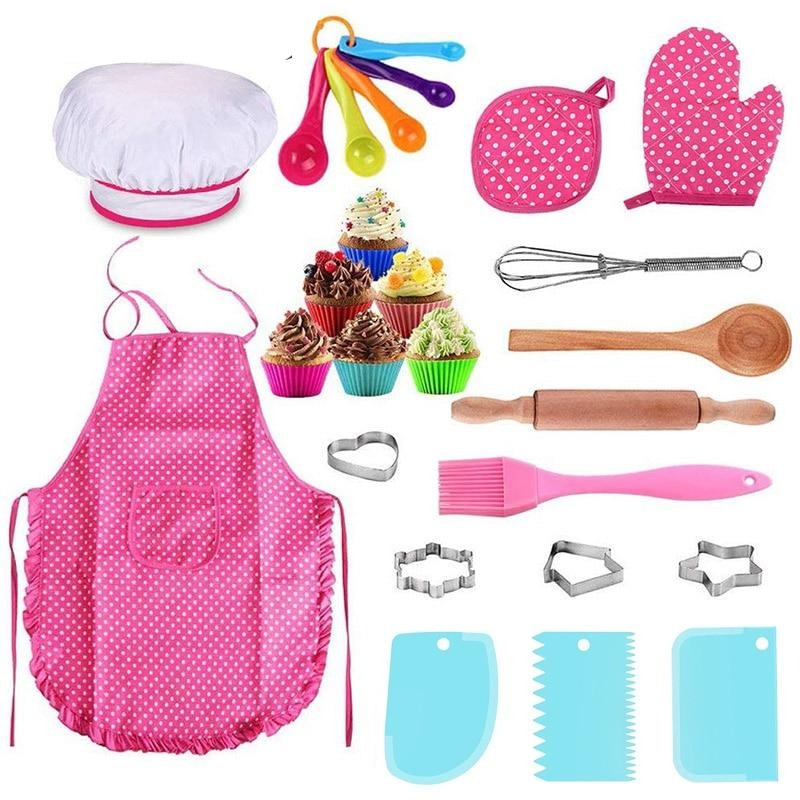 Buy OK-CHEF - 25 Pcs/ Set Chef Cooking Set For Kids Kitchen DIY Cake Pastry Dessert Making Baking Kits Creative Funny Children Kitchenware