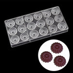 Buy OK-CHEF - DIY Flower shape polycarbonate chocolate mold , Kitchen accessories Plastic dessert cake decoration baking pastry candy mould