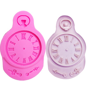 Buy OK-CHEF - Clock shape Silicone Mold for cake Decorations tools watch Fondant Polymer Clay Resin Candy Super Sculpey