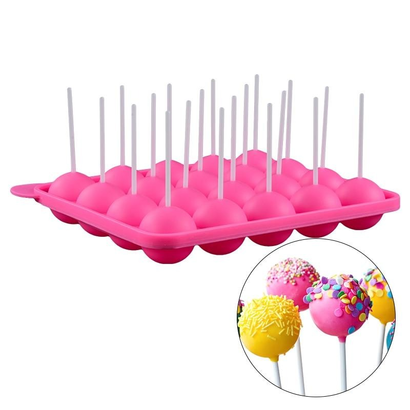 Buy OK-CHEF - 1PC Lollipop Mould 20 Holes Silicone Pop Mold DIY lollipop Chocolate Cookie Candy Maker Tray for Party for Children with Sticks