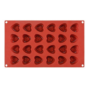 Buy OK-CHEF - 24 Cavities Silicone Chocolate Mold 3D Heart Shape Cake Bakware For Baking Decorating Tools Candy Moulds