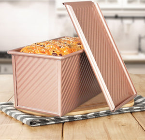Buy OK-CHEF - Aluminium Alloy Toast Loaf Pan Non-stick Bar Bread Cake Brownie Baking Mould Rectangular Bakeware Household With Lid