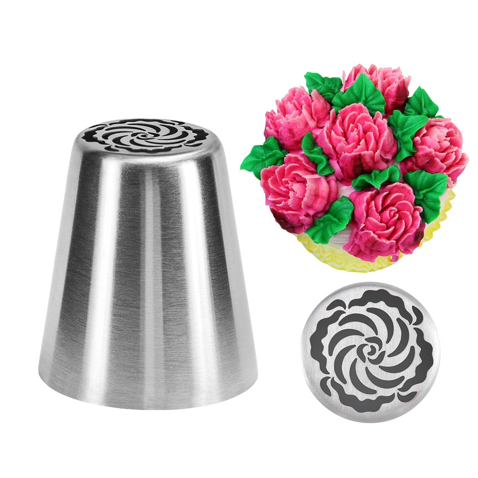 Buy OK-CHEF - DIY Cake Decorating Nozzles Stainless Steel Icing Piping Nozzle Pastry Tips Tulip Flower Cookie Chocolate Mold Baking Tools