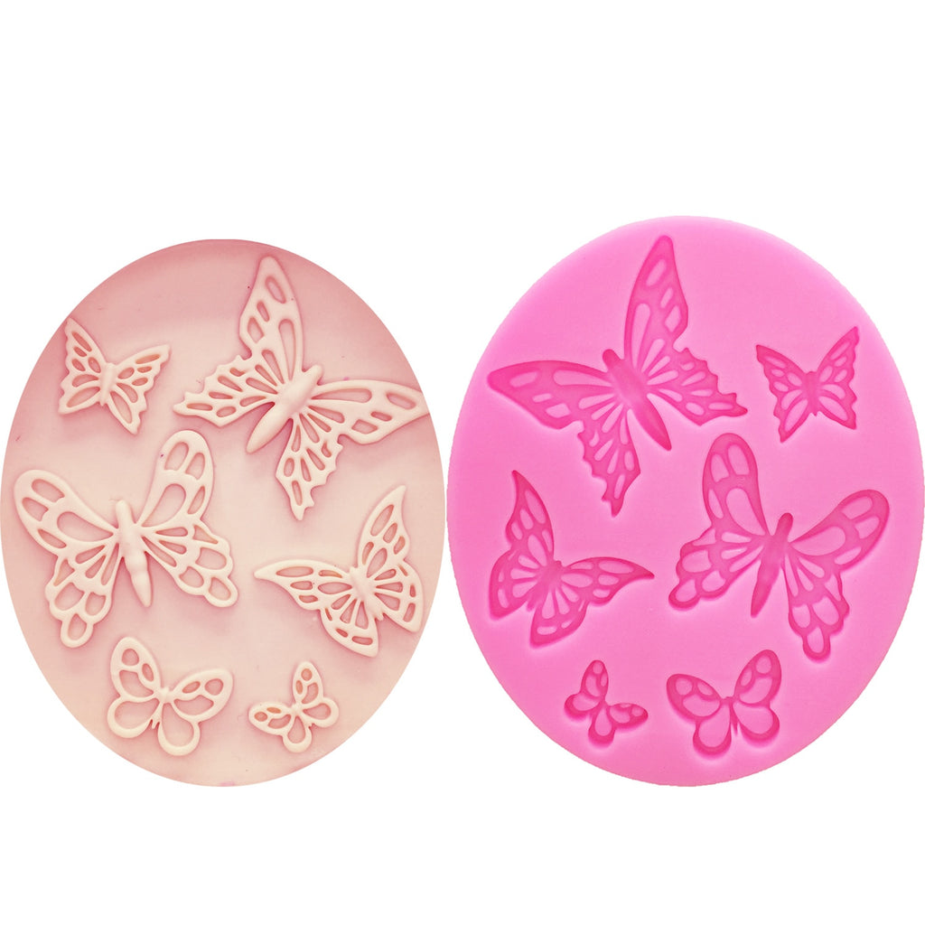 Buy OK-CHEF - Butterfly Shaped Fondant Cake Mold Silicone Mold lace pattern Mould Bakeware Baking Cooking Tools Sugar Cookie Decor