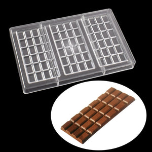 Buy OK-CHEF - 150*74*8mm candy Chocolate bar mold baking cake deoration confectionery tools Polycarbonate chocolate moluds