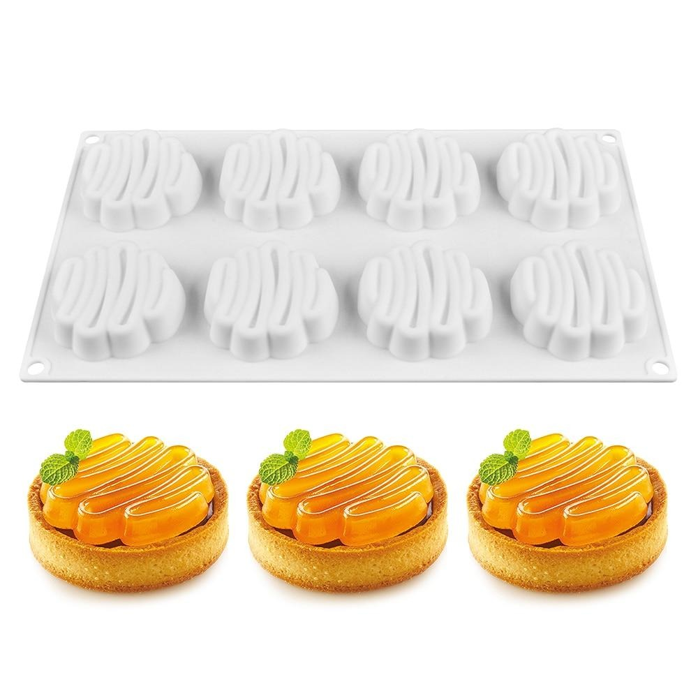 Buy OK-CHEF - 8 Cavity 3D Silicone Cake Mold Baking Tools DIY Mousse Dessert Bakeware Cooking Decorating Tools Moulds
