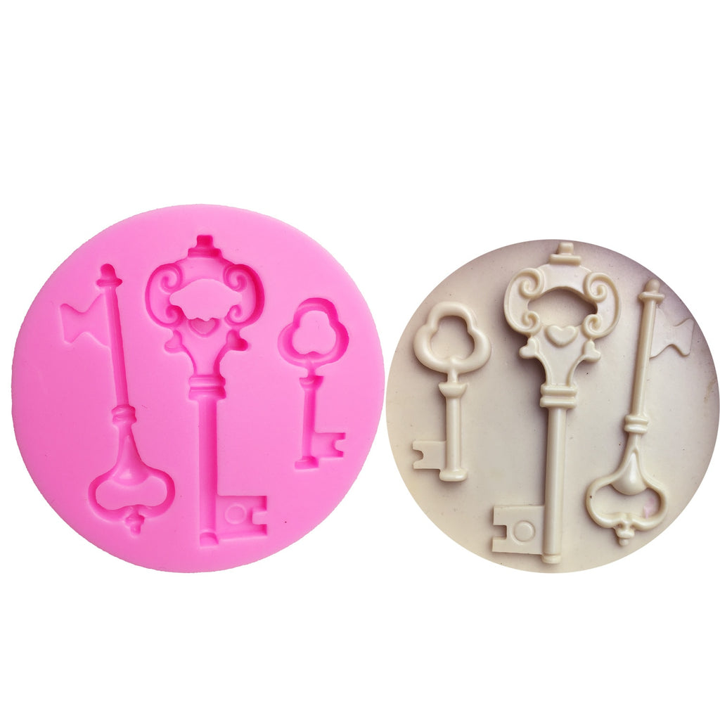 Buy OK-CHEF - keys Sugarcraft Cake fondant molds chocolate silicon mold fondant Cake decoration tools