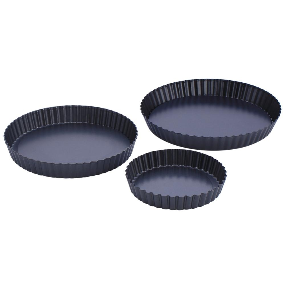 Buy OK-CHEF - Non-Stick Tart Pan Pie Pizza Pan Round Baking Quiche Pan Removable Loose Bottom Heavy Duty 6/8/9 Inch Bakeware Tools